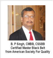 B. P Singh, CMBB, CSSBB Certified Master Black Belt from American Society For Quality